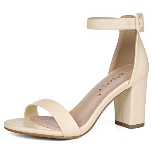 Allegra K Women's Ankle Strap Beige Sandals - 7 M US