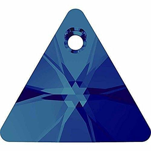 6628 Swarovski Pendant Xilion Triangle | Crystal Bermuda Blue | 16mm - Pack of 2 | Small & Wholesale Packs