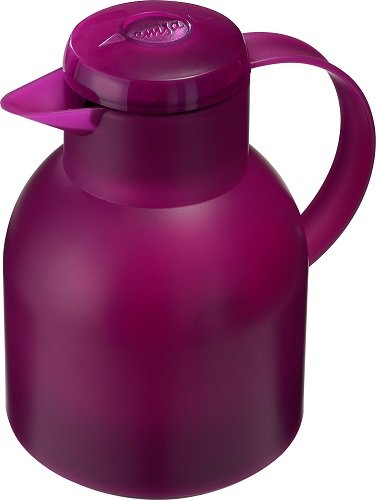 Emsa Samba Quick Press Insulated Server, 34-Ounce, Translucent Raspberry