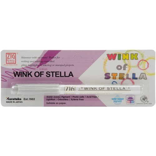 Zig Memory System Wink of Stella Carded, Giltter Marker, Carded, Stella Plata by Notions – In Network d2ee6d