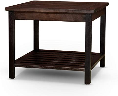 DTY Outdoor Living Longs Peak Eucalyptus Two Shelf Side Table – Espresso