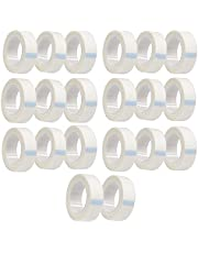 JZK 20 stuks Wit papier stof lash tape, zelfklevende wimper tape, wimper extension tape, micropore medische tape, onder de ogen tape voor wimper extensions