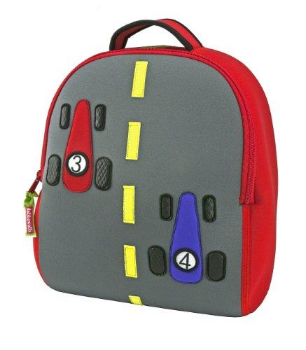 Dabbawalla Bags Fast Track Car Kids Preschool Toddler Backpack and Lunch  Bag Set 7dbf65fb0e4f7