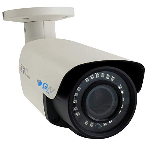 GW Security 8.0MP 4K (3840x2160) 2.8-12mm Varifocal Zoom Outdoor Waterproof Onvif H.265 8MP Bullet PoE IP Camera ()