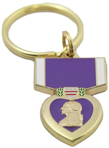Purple Heart Key Ring Military Key Chains Collectibles Gifts Men Women Veterans