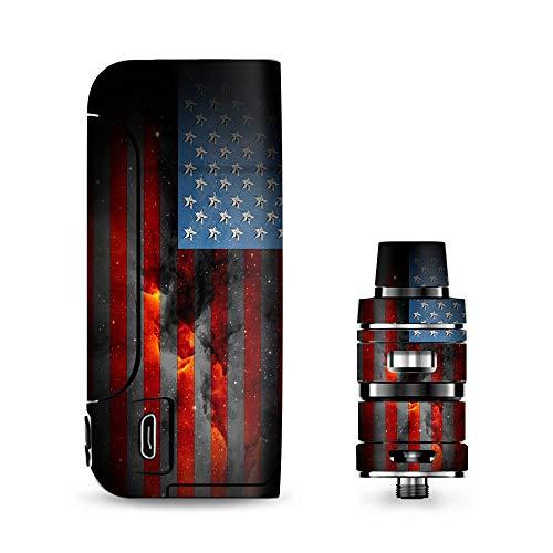 (IT'S A SKIN Decal Vinyl Wrap for Vaporesso Armour Pro Cascade Tank Vape Sticker Sleeve/Dark Distressed American Flag Sky Stars Galaxy)