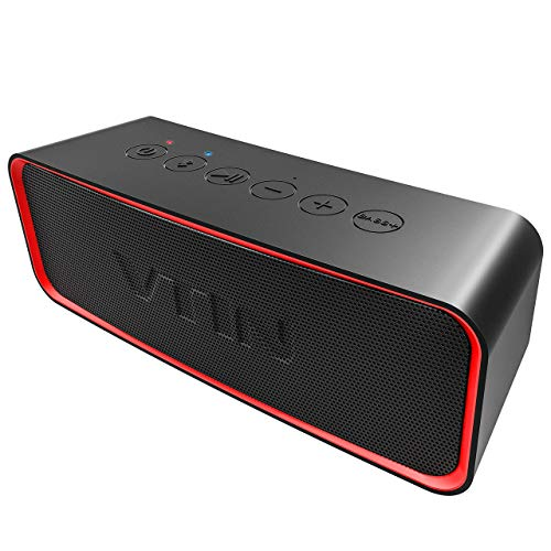 VTIN IPX6 Waterproof Portable Bluetooth Speaker with Enhanced Bass, HiFi-Tec, HD Sound, Support AUX in, Indoor/Outdoor Wireless Speaker for Smartphones, Waterproof Speaker for Party/Beach/Car/Dance by Vtin
