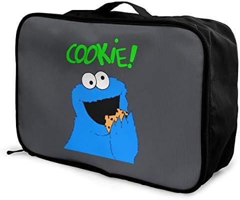 アレンジケース クッキーモンスター 旅行用トロリーバッグ 旅行用サブバッグ 軽量 ポータブル荷物バッグ 衣類収納ケース キャリーオンバッグ 旅行圧縮バッグ キャリーケース 固定 出張パッキング 大容量 トラベルバッグ ボストンバッグ