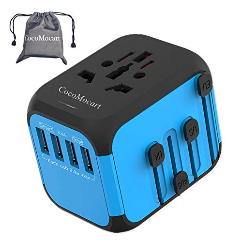 CocoMocart Universal Travel Adapter, All-in-one Worldwide Travel Charger Travel Socket, International Power Wall Charger…