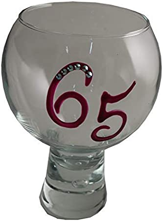 Magenta 21st Birthday Gin and Tonic Glass with Crystals