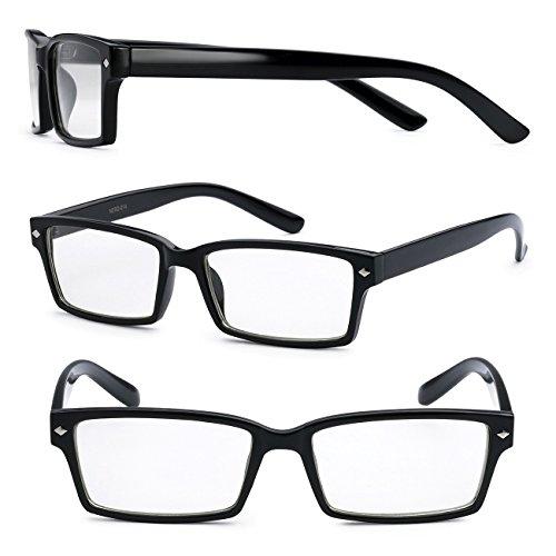 Retro Rectangle Nerd Fake Geek Hero Glasses w/ Clear - Brand Geek Glasses