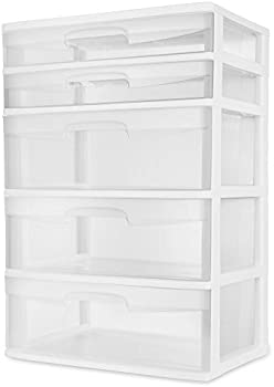 Sterilite 5-Drawer Wide Tower