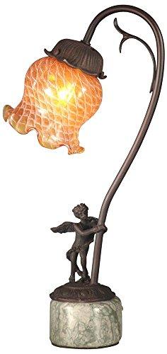 Dale Tiffany TA10839 Cherub Base Accent Lamp, Antique Bronze -