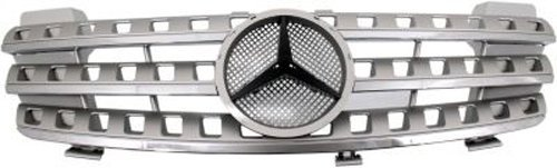 CPP Silver Grille Assembly for Mercedes-Benz ML320, ML350, ML500, ML550, ML63 AMG