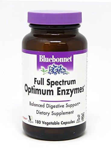 BlueBonnet Full Spectrum Optimum Enzymes Vegetarian Capsules, 180 Count