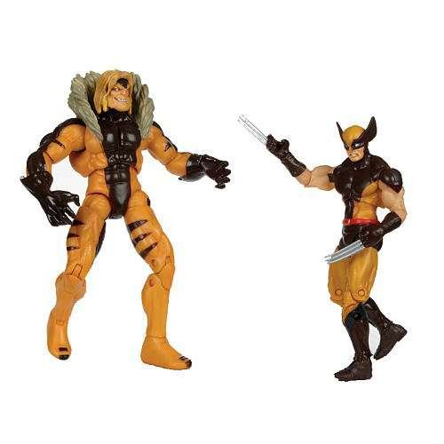 Marvel Universe XMen First Class Action Figure 2Pack Wolverine Sabretooth Hasbro Toys 653569630302