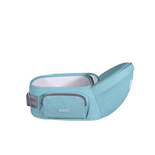 Beibijia Ergonomic Baby Hip seat Carrier,Sling Side Carrier Waist Belt Stool for Newborn,Toddler (Green)