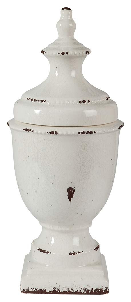 Ashley Furniture Signature Design - Devorit Jar - Antique White by Signature Design by Ashley