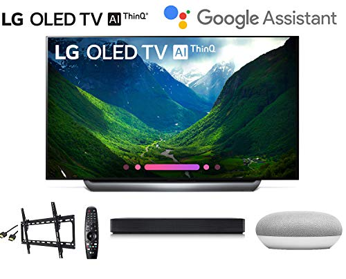 LG OLED65C8PUA C8PUA 4K HDR Smart OLED TV w/AI ThinQ w/ SK1 Soundbar w/Google Mini Smart Speaker w/Flat Wall Mount and HDMI Cable – LG Authorized Dealer