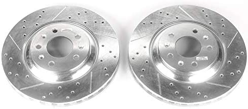 Power Stop AR82107XPR Front Evolution Drilled /& Slotted Rotor Pair