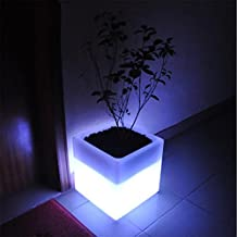 XINYE LED Floor Lamp Plastic Flower Pot 16 Color changing Night Light With Remote