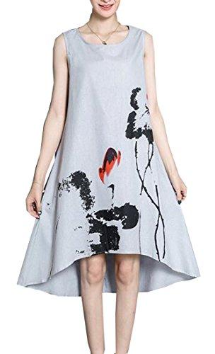 ink printed skater dress - 6