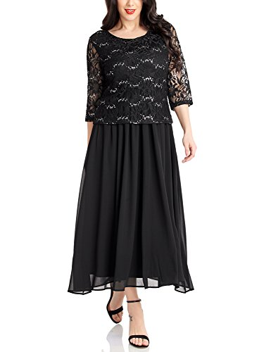 LookbookStore Womens Sequin Mother Chiffon