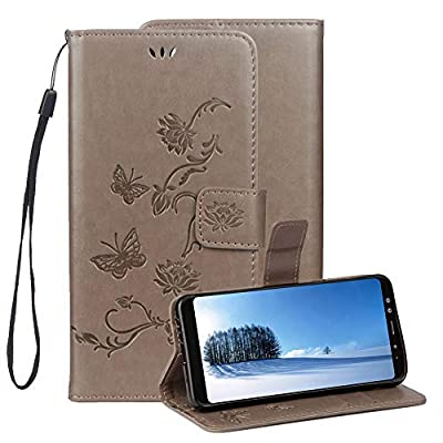 Embossed Leather Case for Samsung Galaxy A6 2018,