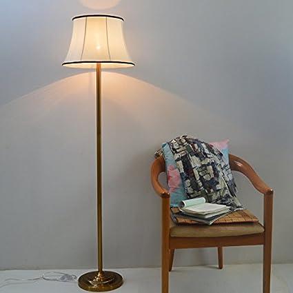 GMM Lámpara de pie Tela de Sala de Estar Europea Simple ...
