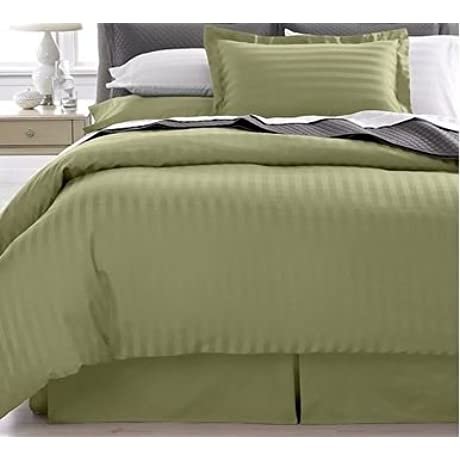 SAGE QUEEN Striped Luxury 8 Peices Bed In A Bag Set 600 Thread Count 100 Percent Egyptian Cotton
