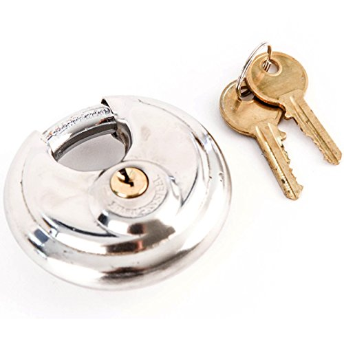 Red Hound Auto 100 Armor Disc Padlock Trailer Brass Cylinder Storage Locks Stainless Keyed Same by Red Hound Auto (Image #1)