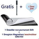 10 St/ück Magnetschild beschreibbar 80mm x 120mm K/ühlschrank Regale Magnete Schilder Magnetfolie Magnetetikett