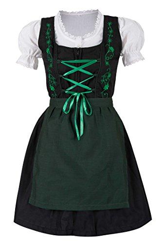 MS-Trachten 3 teiliges Kinder Dirndl Trachtenkleid Steffi (152, grün)