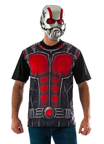 Marvel Ant Man Costume (Marvel Rubie's Costume Co Men's Ant-Man T-Shirt and Mask, Multi, X-Large)