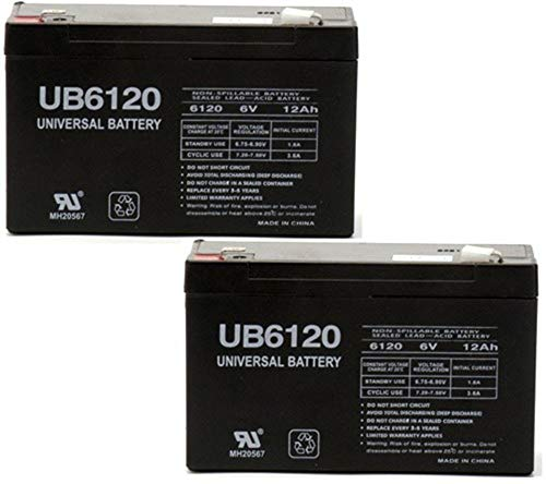 Universal Power Group Moultrie 6 Volt 12 amp Crown Rechargeable Battery - New - 2 Pack
