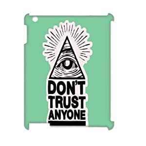 kimcase Custom Don't Trust Anyone 3D Cover for iPad2,3,4
