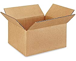 Perfect Stix Shipping Boxes Mailers 8x6x4 inches Cardboard Small Packing Kraft Moving Mailing Box, Pack of 10. Sturdy Cardboa