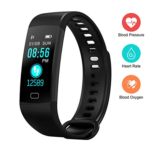 Fitness Tracker HR Activity Tracker, Heart Rate Monitor with Blood Pressure Oxygen Monitoring Watch, IP67 Waterproof Smart Fitness Tracker, Child Female and Male Calorie Pedometer Watch