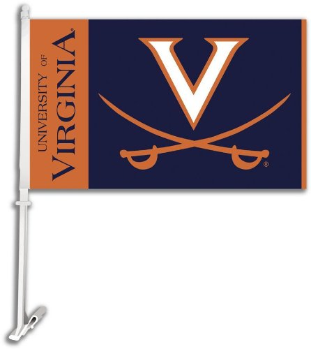 - NCAA Virginia Cavaliers Car Flag with Free Wall Bracket