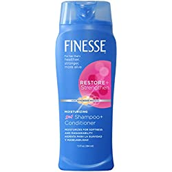 Finesse Restore + Strengthen Moisturizing 2in1 Shampoo + Conditioner - 13oz - 6-Pack - Moisturize & Repair Dry or Damaged Hair