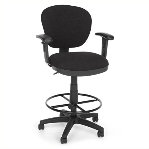 OFM 150-AA-DK-126 Lite Use Computer Task Stool with Arms and Drafting Kit ()