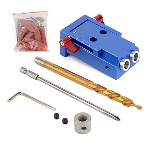 Baoblaze Mini Pocket Slant Hole Jig Kit +Step Drilling Drill Bit Tool WoodWork Tool by Baoblaze (Image #2)