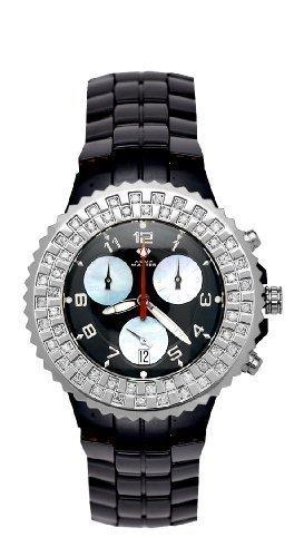 Aqua Master Unisex Ceramic Diamond Watch 1.25ctw by Aqua Master