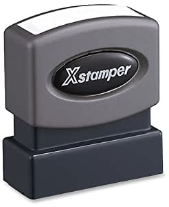 Xstamper One-Color Title Message Stamp, Past Due, Pre-Inked/Re-Inkable, Red (1362)