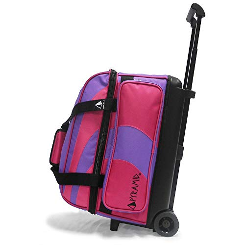 Pyramid Path Deluxe Double Roller Bowling Bag (Purple/Hot ()