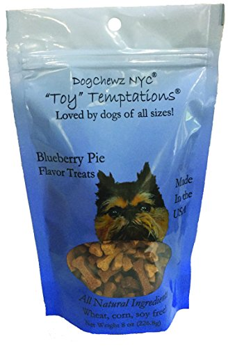 Dogchewz Nyc Toy Temptations All Natural Dog Treats, 8-Ounce, Blueberry Pie