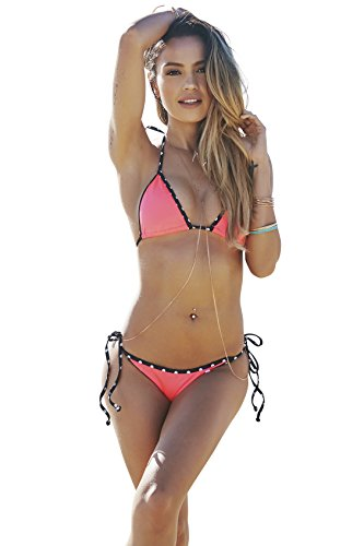 DOLL & Co. Women's Tokyo Polka Dot Bikini Top Medium