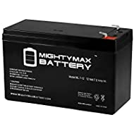 ML7-12 - 12 VOLT 7.2 AH SLA BATTERY - Mighty Max Battery brand product, black