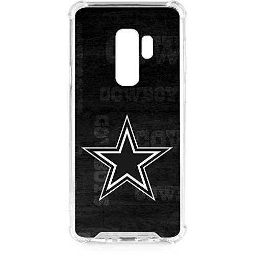 Skinit Dallas Cowboys Black & White Galaxy S9 Plus Clear Case - NFL - Skinit Clear