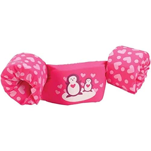 Penguin Jumper - Stearns Puddle Jumper Deluxe Child Life Jacket, Pink Penguin